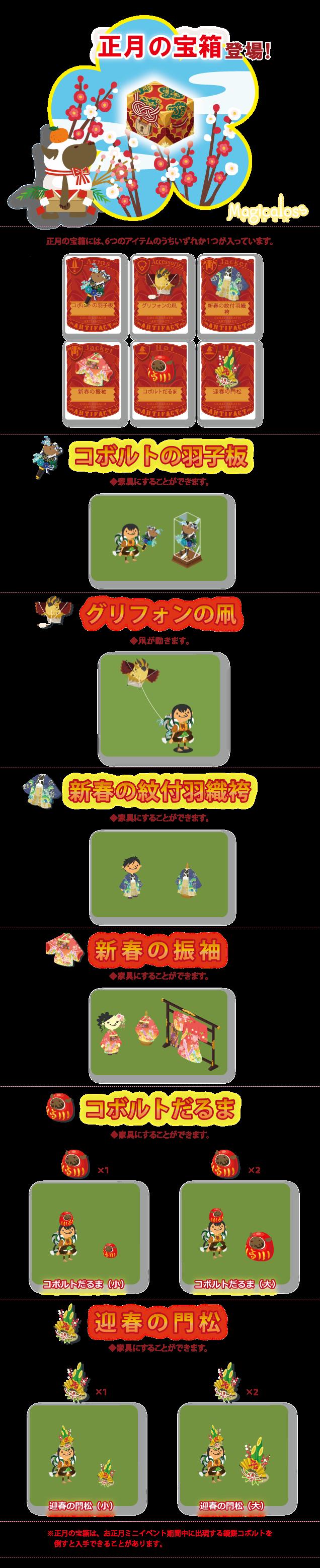 正月の宝箱登場!