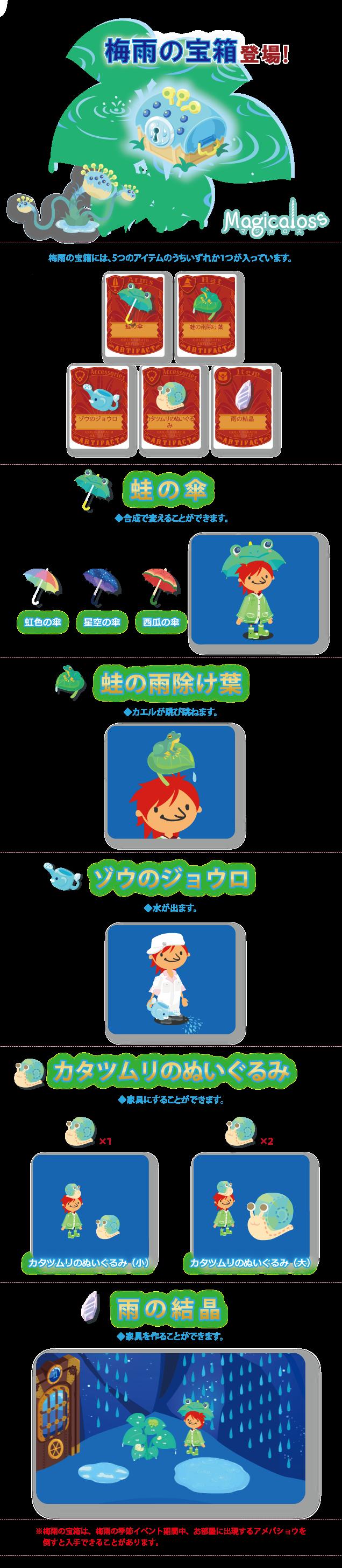 梅雨の宝箱登場!