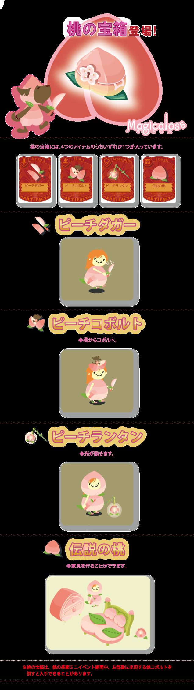 桃の宝箱登場!